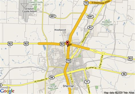 where is sherman texas on the map map of inn express hotel suites sherman sherman