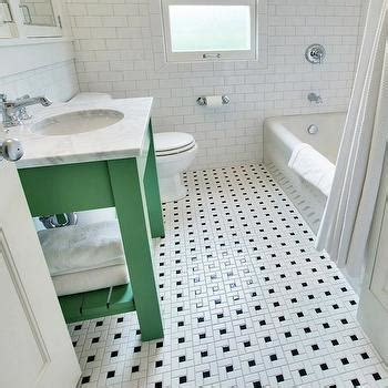 green and white tiles for bathroom vintage black and white bathroom floor design ideas