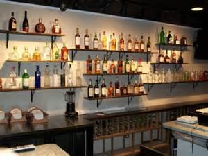 Bar With Shelves Basement Idea On Smaller Scale Home