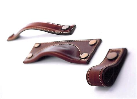 Kitchen Handles With Leather Leather Cabinet Pull Handle 3d Design