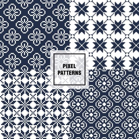 pixel pattern ai pixel patterns collection vector free download