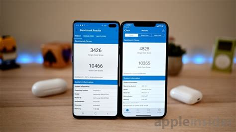 benchmark showdown samsung galaxy s10 versus iphone xs max