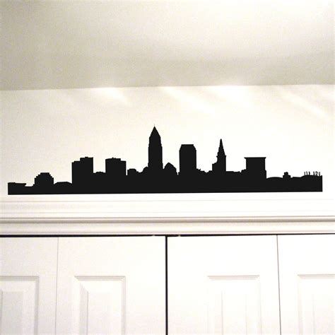 In Cleveland Wall Items Similar To Cleveland Skyline Vinyl Wall Decal 11