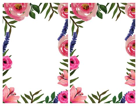 floral invitation  printable invitation templates