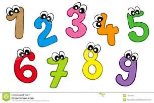 Cartoon numbers royalty free stock photography image 13583897