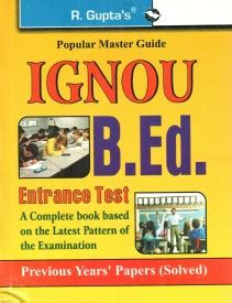 Ignou Mba Guide Books by Books To Be Referred For B Ed Entrance
