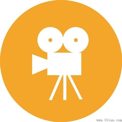 design icon orange cinematography orange icons vector free vector in adobe
