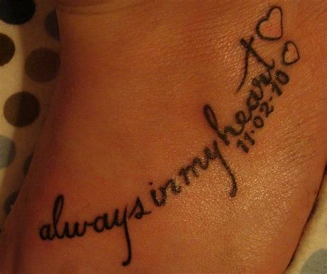 tattoo deceased family member pretty place writing and message love this for a loss of