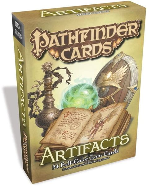 pathfinder item card template paizo pathfinder cards artifacts item cards