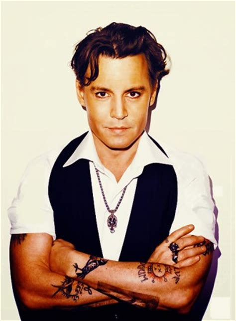 johnny depp tattoo saying johnny depp height workout routine and body measurements