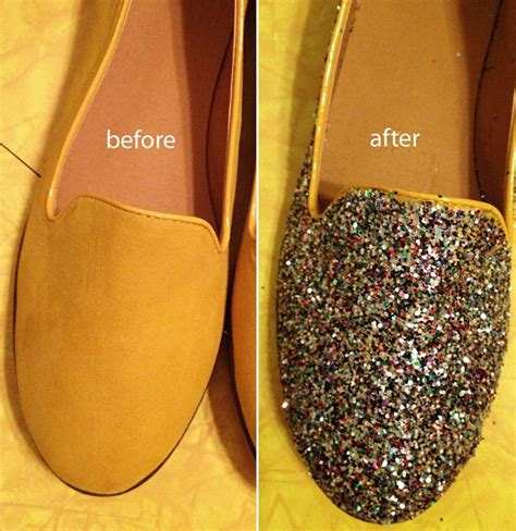 diy sparkly shoes diy glitter heels trusper