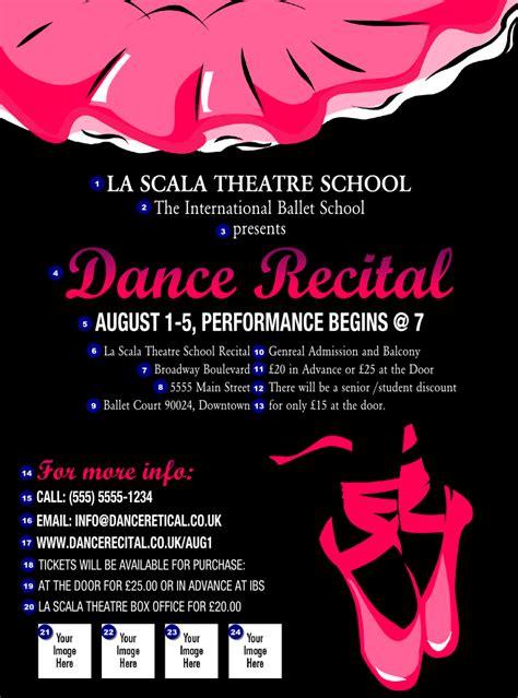 design a dance flyer dance recital flyer ticket printing
