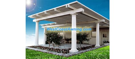 lattice patio covers west coast awning flat pan ultra