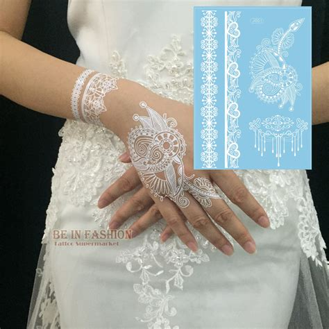 henna tattoo designs in white 1piece indian arabic white henna paste lace designs