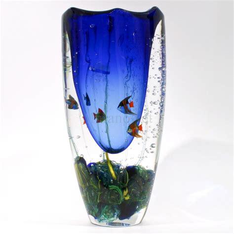 Vase Aquarium by Aquarium Vase Cobalt Blue In Murano Glass Muranonet
