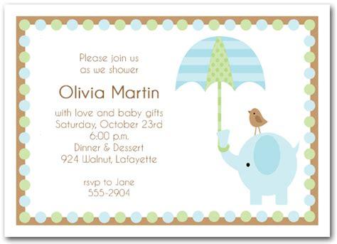 elephant umbrella boy baby shower invitations boy baby