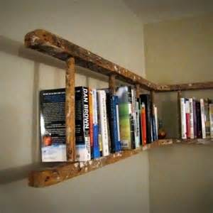 Wooden Ladder Bookcase Wooden Ladder To A Bookshelf For The Home