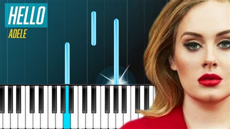 hello keyboard tutorial adele adele hello piano tutorial youtube