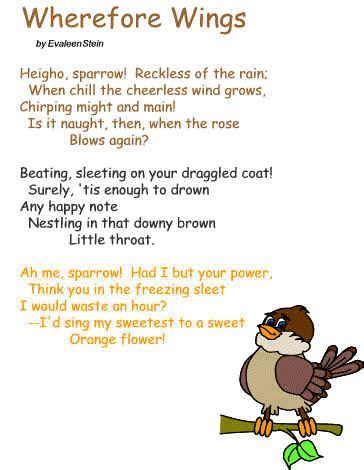 Poem Wherefore Wings By Evaleen Stein
