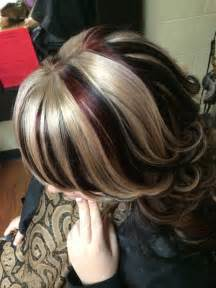 chunky highlights for hair images hair chunky highlight red black blonde hair by crystal