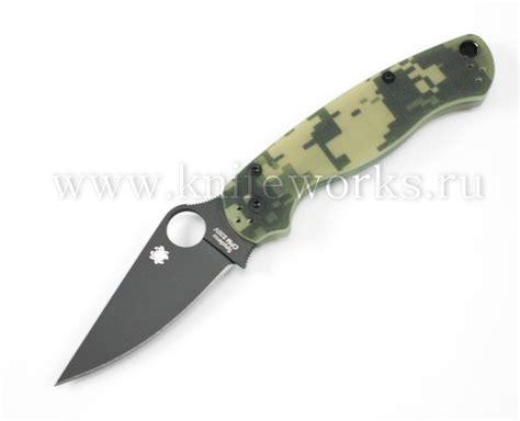 paramilitary spyderco spyderco paramilitary 2 camo black 11000