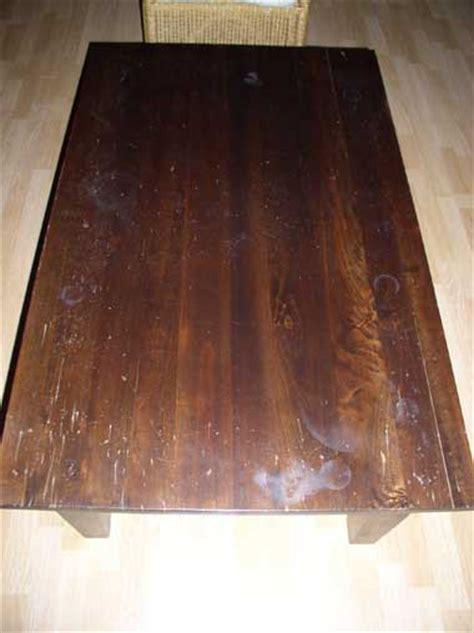 houten tafelblad opknappen koloniale tafel opknappen