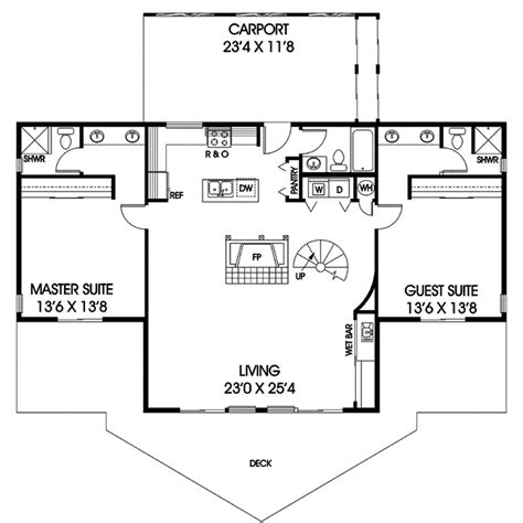 ridgeview park vacation home plan 085d 0056 house plans
