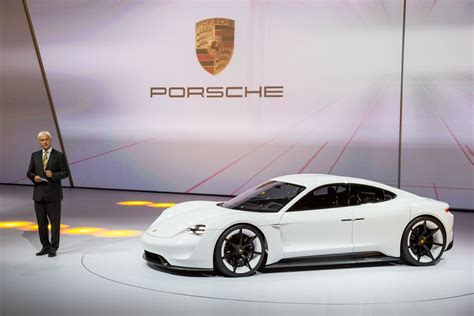 porsche electric porsche mission e electric car production set at 15 000