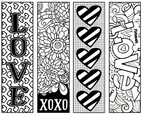 free printable bookmarks you can color free printable valentine s coloring bookmarks bookmarks