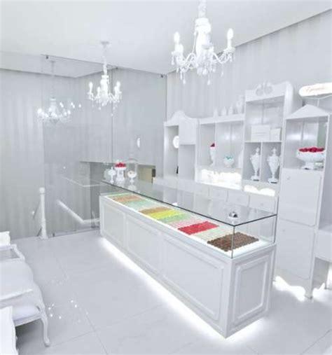luxury white interiors ice white design designer uncovered elegant boutique bakeries theurel thomas