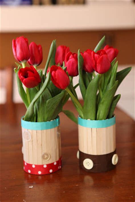 kerajinan stik es krim vas bunga mudah dibuat bisnis borneo belajar bisnis melalui
