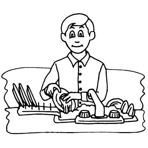 house chores coloring pages household chores pictures cliparts co