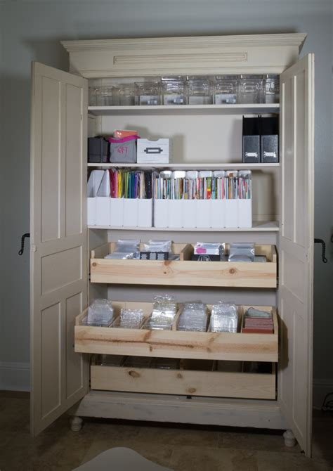 Craft Storage Armoire by 5 Days To An Organized Crafty Stash St Storage
