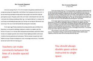 How To Write A Double Spaced Paper What Is Double Spacing