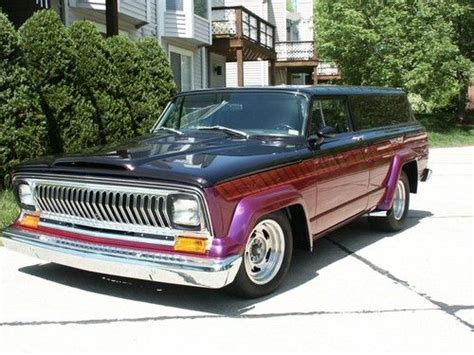 lowered jeep wagoneer sell 1964 jeep wagoneer custom rod l98 corvette in