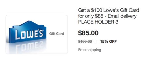 Lowes Gift Card Policy - 15 off lowe s gift cards hurry points miles martinis