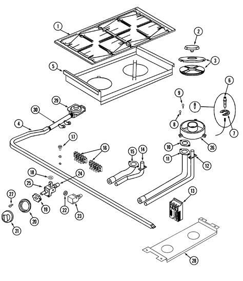 jenn air parts diagram top assembly controls diagram parts list for model