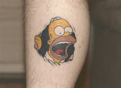 cartoon tattoos taturday 81 cool tattoos smosh