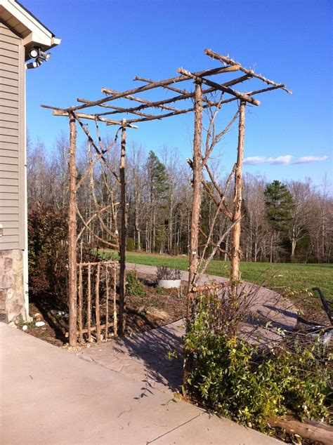 Garden Arbor Made From Branches Arbor Made From Cedar Branches Wood Craft