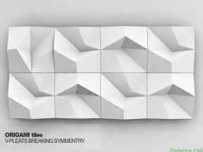 origami tiles v pleats breaking symmetry parametric
