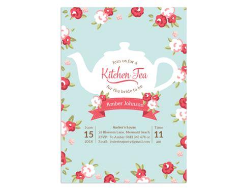 Kitchen Tea Images Printable Birthday Kitchen Tea Bridal Shower Invitation