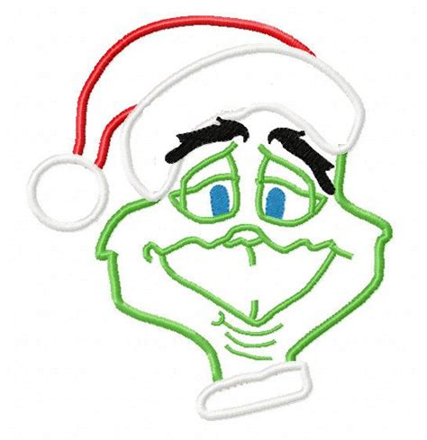 embroidery design grinch grinch christmas applique machine embroidery by