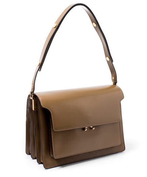 The Bag For The Who Is Doing The Gardener by Lyst Marni Large Khaki Leather Trunk Bag In