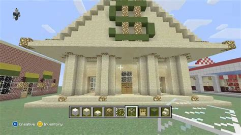 create a building minecraft let s build a bank part 1 youtube