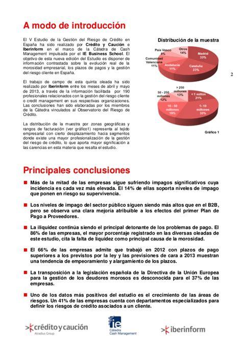Mba España Ranking by Radiografica De La Gesti 243 N Riesgo Impago En Espa 241 A