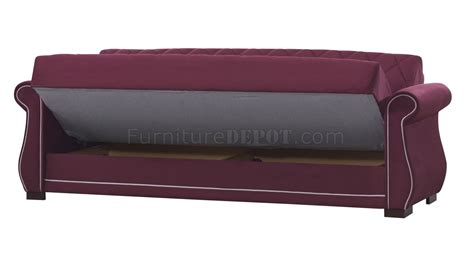 Sleeper Sofa Options Deluxmark Sofa Bed In Burgundy Fabric By Casamode W Options