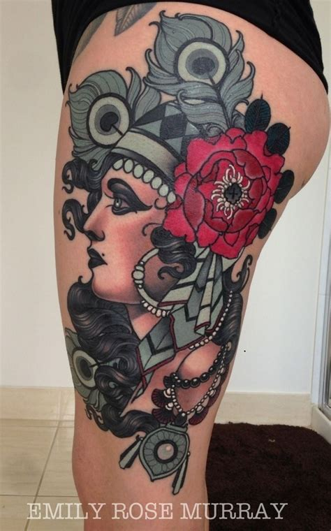 rose tattoo upper thigh 43 best oldschool tatts i want images on