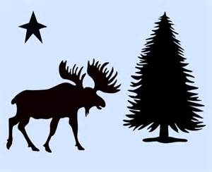 pine tree template free moose stencil northwoods pine tree trees stencils