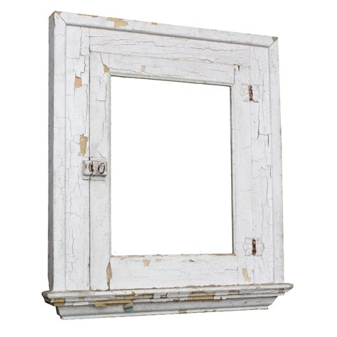salvaged antique bathroom medicine cabinet with mirror