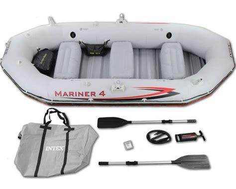 opblaasbare boot met elektromotor intex mariner 4 set vierpersoons opblaasboot opblaasbootshop